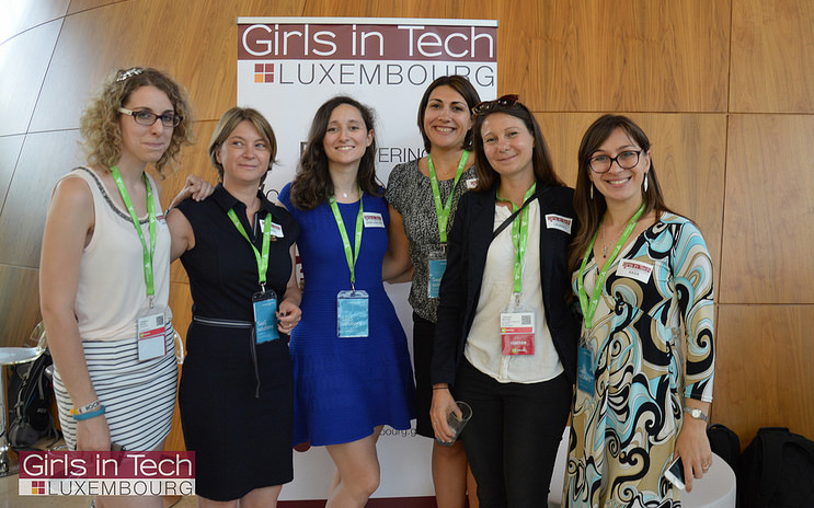 L'équipe de Girls in Tech à l'ICT Spring